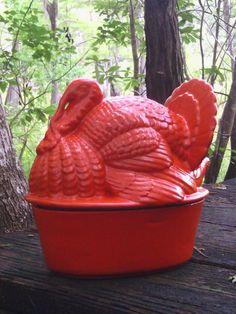 LOVE! Turkey tureen / casserole dish by NotTheJoneses on etsy.