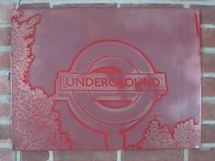 London Underground on Etched Metal by Thunder Designs LLC