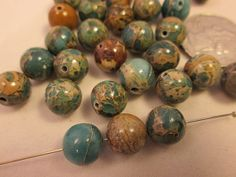 Close Out Beads Aqua Terra Jasper Round 10mm by FLcowgirls, $2.13