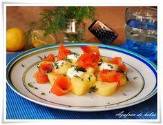 Azafrán de hebra: Ensalada de patatas y salmón ahumado