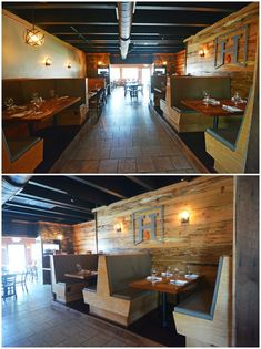 Virginia Beach Restaurant Design Hearth Rustic Interior Wood Wall Commercial Interior Design