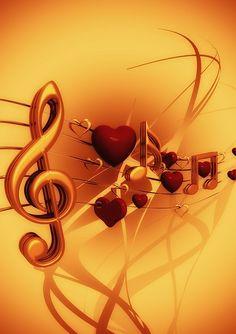 Notenschlüssel, Noten, Liebe, Herz, Musik