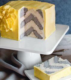Surprise Inside Chevron Cake