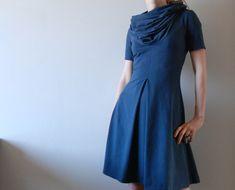 Free Sewing Pattern Draft Tutorial - Jersey Dress with Pleats