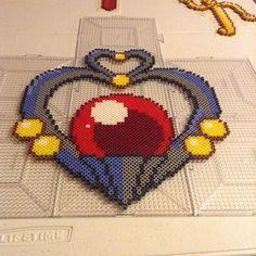 Garnet Orb Sailor Pluto perler beads by draventhefallen