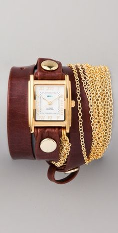 La Mer Collections  Rio Gold Chain Wrap Watch - only for 106$