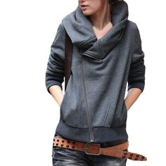 Amazon.com: Vobaga Women's Casual Long-sleeve Cardigan Hooded Sweater Jacket: Clothing