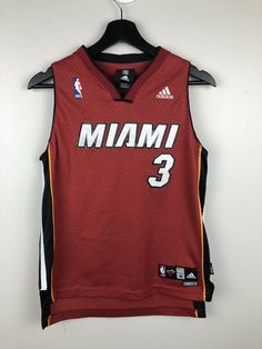 59971a54b Adidas NBA Miami Heat Dwayne Wade Jersey Kids Size M