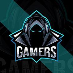 Gamers mascot logo design | Premium Vector #Freepik #vector #logo #team #head #emblem Hacker Logo, Shadow Logo, Mobile Logo, Team Logo Design, Hacker Wallpaper, Army Day, Best Gaming Wallpapers, Esports Logo, Retro Logos