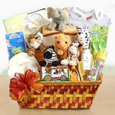 Noah's Ark Baby Gift BasketNoah's Ark Baby Gift Basket.  See more at www.pro-gift-baskets.com!