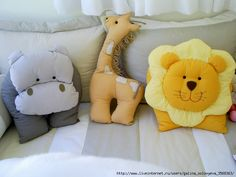 Sweet animal pillows! :)