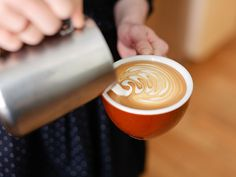 """Tutorial on Latte Art: """"How to Draw a Rosetta on Your Coffee"""""""