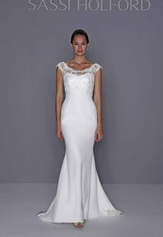Laura jacket with Sassi Holford Jessica gown