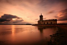 Normanton Church Sunset, Rutland Water - by Andrew Watson. Rutland Water, Water Me, The Visitors, Great Britain, Fly Fishing, Acre, Countryside, England, Clouds