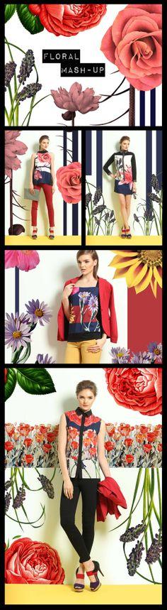 Freeway Floral Mash-Up Collection by Drexler John Cruz, via Behance