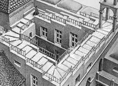 Caída interminable, Escher y Alguien mas, Animación