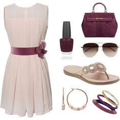 This outfit is perfect for summer! Lovin the aviator sunglesses with the girly dress!