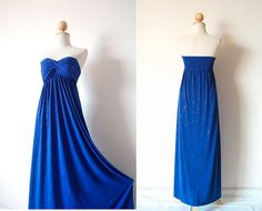 Gorgeous Blue Evening Dress by pinksandcloset on Etsy, $55.00