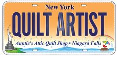 LICENSE PLATE OF THE DAY! Auntie's Attic Quilt Shop 1995 Military Road Niagara Falls, NY 14304 (716) 297-3636 www.auntiesatticquiltshop.com https://www.facebook.com/AuntieAtticQuiltShop