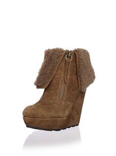 83% OFF Ash Women's Folk Platform Ankle Boot (Chestnut)