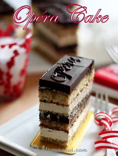 Bisous À Toi: Four Layer Opera Cake