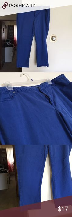Apt. 9 Royal Blue Skinny Pants Good condition- color is a little faded but no pilling, rips, or stains. More of a khaki pant material - not a jean material. Skinny leg. Apt. 9 Pants Skinny