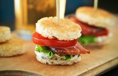 Little BLT's on a stick?? Heck yeah!! 26 Foods That Are Better On A Stick  - Delish.com