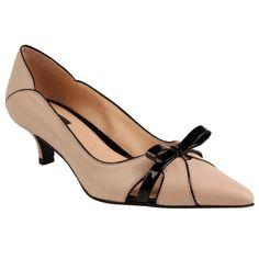 Scarpin de couro e verniz - nude e preto - shoestock