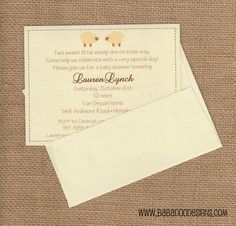 Sheep Baby Shower - Sheep Baby Shower Invitation - available in multiple styles and colors.  www.BabadooDesigns.com