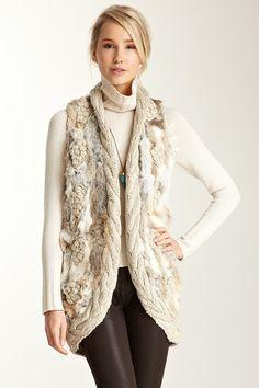 Love Token Long Fur Knit Vest by Peace, Love & Spring Favorites on @HauteLook