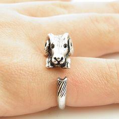 Silver Baby Ram Wrap Ring