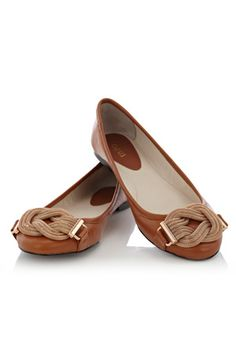 Want these for spring- Mesh knot leather ballerina