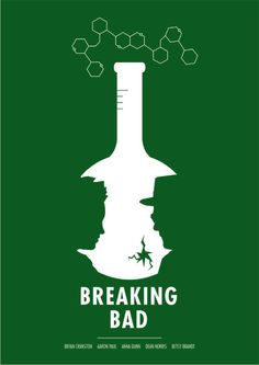 Breaking bad movie poster by Oli Philips. I love how he applied figure and ground relationship on it. Breaking Bad Poster, Breaking Bad 3, Minimal Movie Posters, Minimal Poster, Cool Posters, Film Posters, Simple Poster, Retro Posters, Poster Minimalista