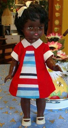 Vintage black doll by Regal Canada by doramarie on Etsy, $19.00