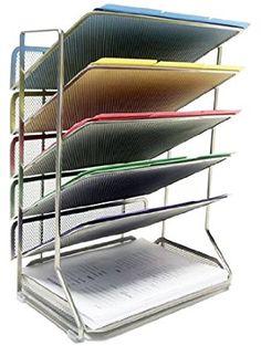 Seville Classics Office Desk Organizer, Letter Size, Mesh 6-Trays ❤ Seville Classics
