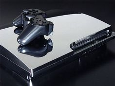 Christmas is coming... Amazon.com: Sony PlayStation 3 Slim Skin (PS3 Slim) - NEW - SILVER CHROME MIRROR system skins faceplate decal mod: Video Games