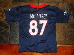 Toddler Blue, Orange DENVER BRONCOS #87 ED McCAFFREY NFL Jersey, Size 3T, GUC! #Champion #DenverBroncos