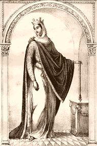 Brunehaut. -RESUME: BRUNEHAUT ou Brunehilde (en latin Brunichildis), née vers 547 en Espagne wisigothique, morte exécutée en 613 à Renève (actuelle Côte d'Or), est une princesse wisigothique devenue reine des Francs qui dans les faits va régner sur au moins un royaume mérovingien (Austrasie et/ou Burgondie) pendant 33 ans. Elle est assez célèbre pour sa rivalité avec une autre reine Franque, Frédégonde.