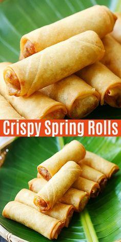 Spring Rolls Vegan, Fried Spring Rolls, Chicken Spring Rolls, Easy Spring Rolls, Pork Spring Rolls, Easy Chicken Spring Roll Recipe, Chinese Spring Rolls, Thai Spring Rolls, Vegetarian Spring Rolls