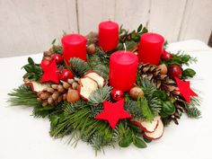 Advent wreath - Advent wreath red Advent wreaths Christmas decoration - a designer ., : Advent wreath – Advent wreath red Advent wreaths Christmas decoration – a designer …, Christmas Gift Box, Christmas Nativity, Christmas Time, Christmas Wreaths, Christmas Crafts, Xmas, Christmas Ornaments, Nativity Crafts, Wood Crafts