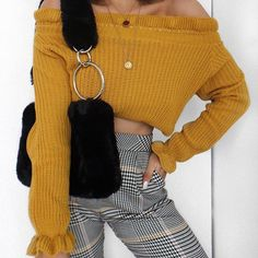 Checked and yellow giving me major Clueless vibes  knit from @misspap use code LISSY30