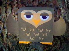Hoots printable paper owl toy, just print, cut, and glue. 3d Paper Crafts, Owl Crafts, Crafts For Kids, Paper Birds, Owl Paper, Origami, Owl Always Love You, Halloween Photos, Toy Craft