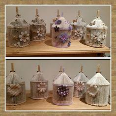 Handmade Book fold birdcage decorative unique keepsake gift idea. birthday…
