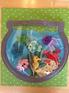 Fishbowl Quiet Book PageFishbowl Quiet Book Ideas Baby Diy Sewing Quiet Books For 201948 Ideas Baby Diy Sewing Quiet Books For Book step-by-step instructions - make a activity book without a sewing Diy Quiet Books, Baby Quiet Book, Felt Quiet Books, Quiet Book For Toddlers, Quiet Book Templates, Quiet Book Patterns, Felt Patterns, Sensory Book, Baby Sensory