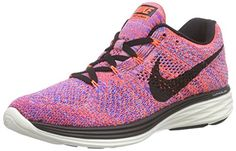 Nike Womens Wmns Flyknit Lunar3 HYPER ORANGEBLACKRACER BLUE 95 M US *** Check out this great product.