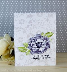 Smile in an Envelope: Altenew Ultimate Challenge Blog Hop : Beautiful Day-Purple
