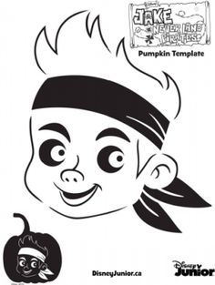 Jake and the Neverland Pirates Pumpkin Template