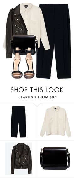 """""""Untitled #6410"""" by laurenmboot ❤ liked on Polyvore featuring Sportmax, Monki, Jakke, Zara and Gianvito Rossi"""
