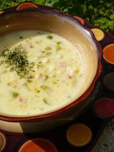 Cream soup with ham - Karfiolkrémleves sonkával - Kifőztük Hungarian Cuisine, Hungarian Recipes, Yummy Snacks, Yummy Food, Tasty, Soup Recipes, Cooking Recipes, Ham Soup, Breakfast Time