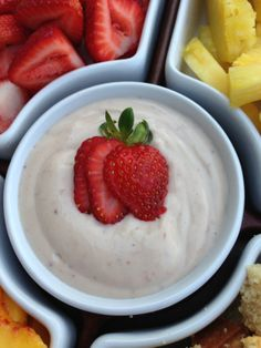 Strawberry silk tofu fruit dip